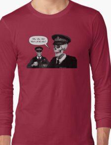 Skeleton Police (Red) Long Sleeve T-Shirt