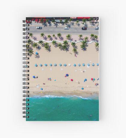 Beach Bird's Eye View Spiral Notebook