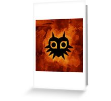 Majora's Mask Silhouette Greeting Card