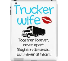 Trucker Wife - Blue iPad Case/Skin
