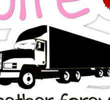 Trucker Wife - Pink Sticker