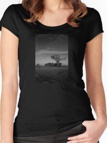 The Rihanna Tree, Monochrome! Women's Fitted Scoop T-Shirt
