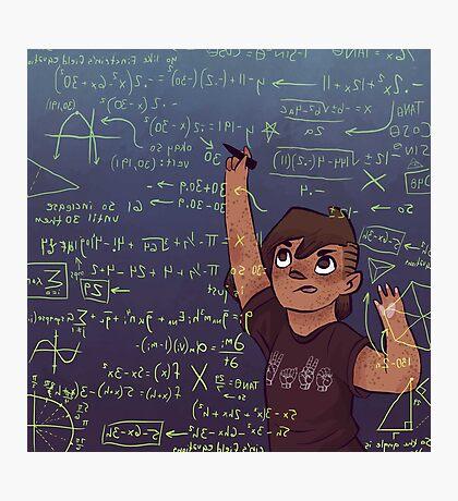 Romy + Math Photographic Print