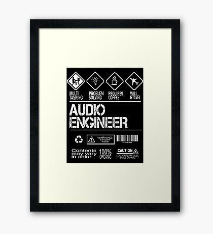 Audio Engineer-12 Framed Print