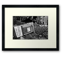 Park at your own risk Framed Print