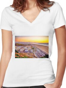 Edge of the World Women's Fitted V-Neck T-Shirt