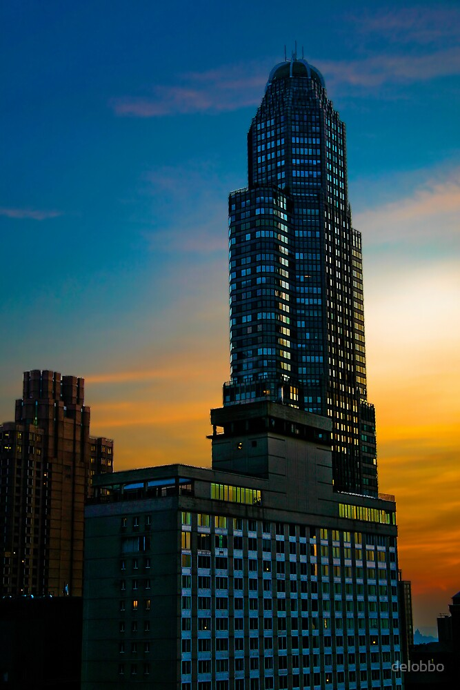 Buildings in Manhattan by delobbo