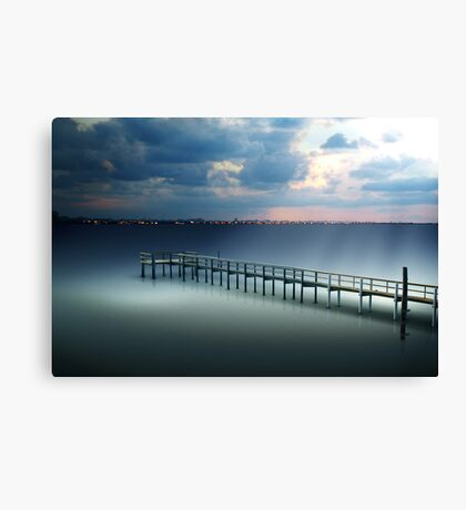Spotlight on a Pier Canvas Print