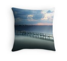 Spotlight on a Pier Throw Pillow