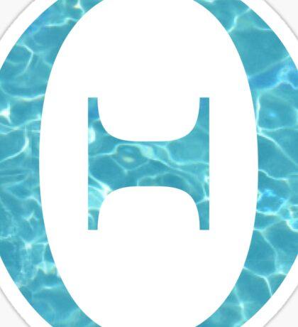 Theta Tropical Water Blue Greek Sorority Sticker