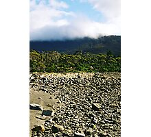 Cloudy Rocks Photographic Print