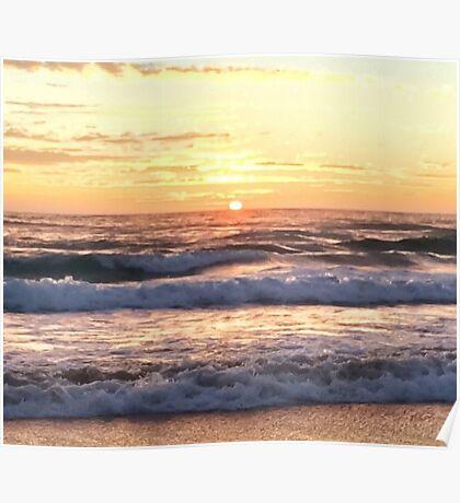 Golden Beach Sunrise Poster