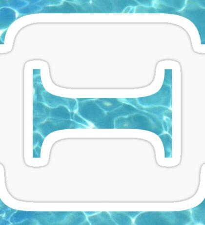 Xi Tropical Water Blue Greek Sorority Sticker