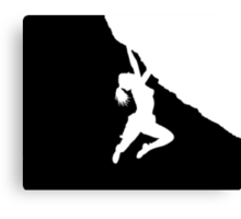 girl bouldering Canvas Print