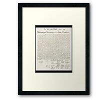 Declaration of Independence, United States of America, American Independence,USA Framed Print