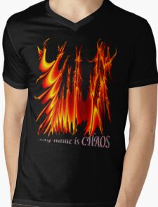 my name is CHAOS Mens V-Neck T-Shirt
