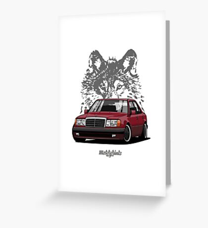 Mercedes-Benz 500 E (W124) (red) Greeting Card