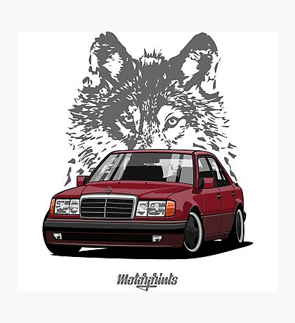 Mercedes-Benz 500 E (W124) (red) Photographic Print