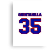 National baseball player Omar Quintanilla jersey 35 Canvas Print