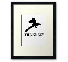 "Captain Falcon ""The Knee"" Framed Print"