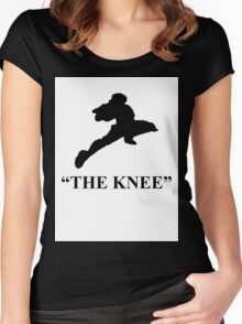 """Captain Falcon """"The Knee"""" Women's Fitted Scoop T-Shirt"""