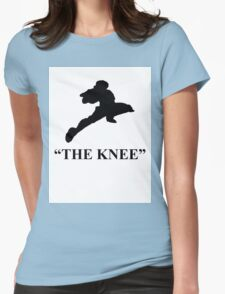 """Captain Falcon """"The Knee"""" Womens Fitted T-Shirt"""