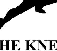 """Captain Falcon """"The Knee"""" Sticker"""