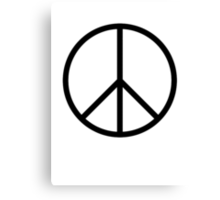 Peace symbol, CND, Campaign for Nuclear Disarmament, Ban the Bomb, Canvas Print