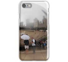 Chicago Tourists in the Rain iPhone Case/Skin