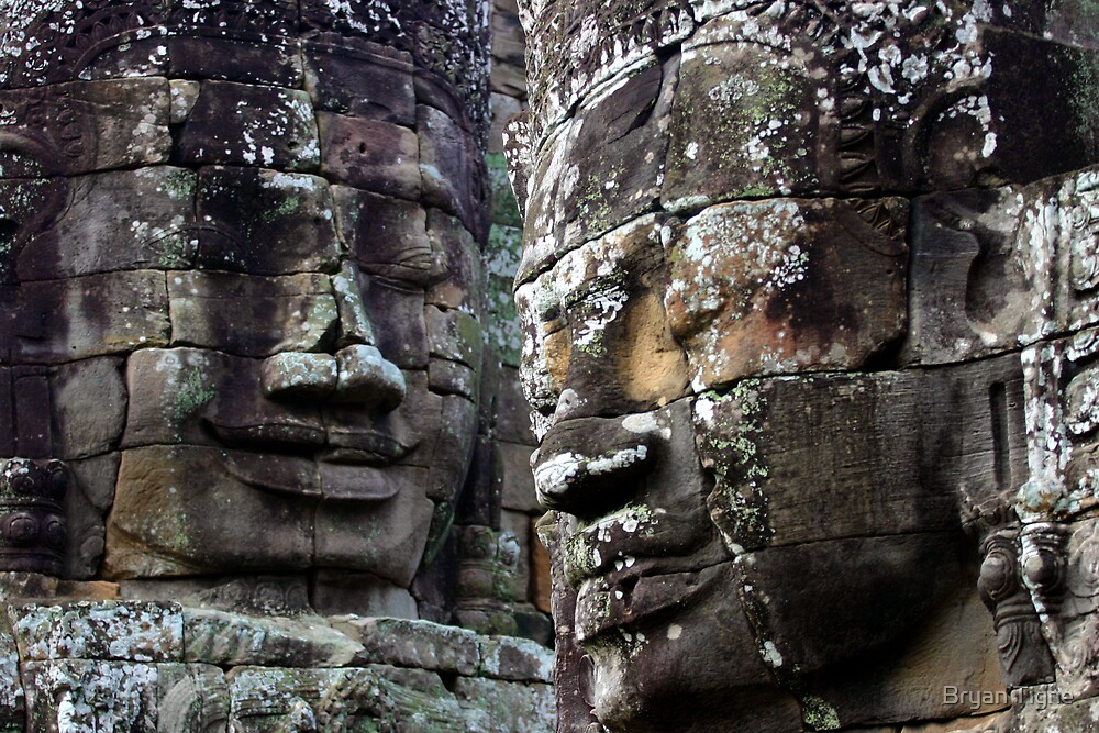 Faces of the Bayon by Bryan Tighe