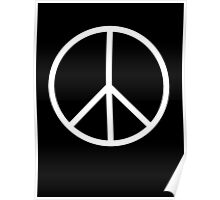 Ban the Bomb, Peace, symbol, CND, Campaign for Nuclear Disarmament, White Poster