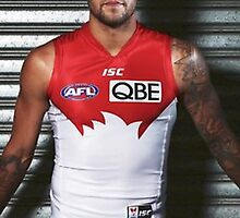 Buddy Franklin in Red and White by noselfies