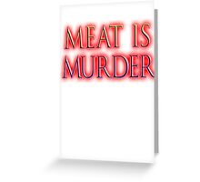 Meat is Murder, Vegetarianism, Vegetarian, Vegan, Greeting Card