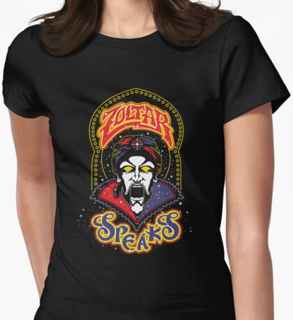 Zoltar Speaks Big - Blue Variant Womens Fitted T-Shirt