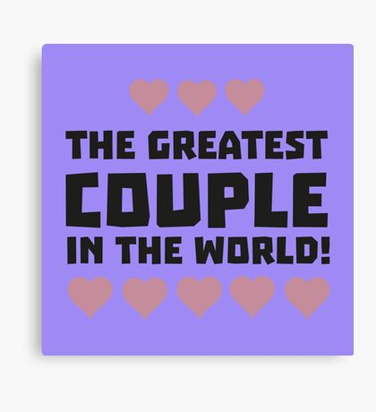 Greatest Couple Love Rg5qi Canvas Print