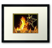 Demon in the Flames ILCUNL2 Framed Print