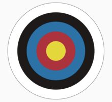 Archery, Bulls Eye, Right on Target, Roundel on White by TOM HILL - Designer
