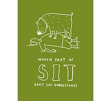 sit! Photographic Print