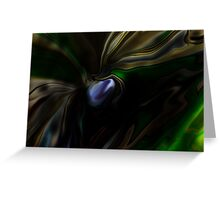 dragon fly above water Greeting Card
