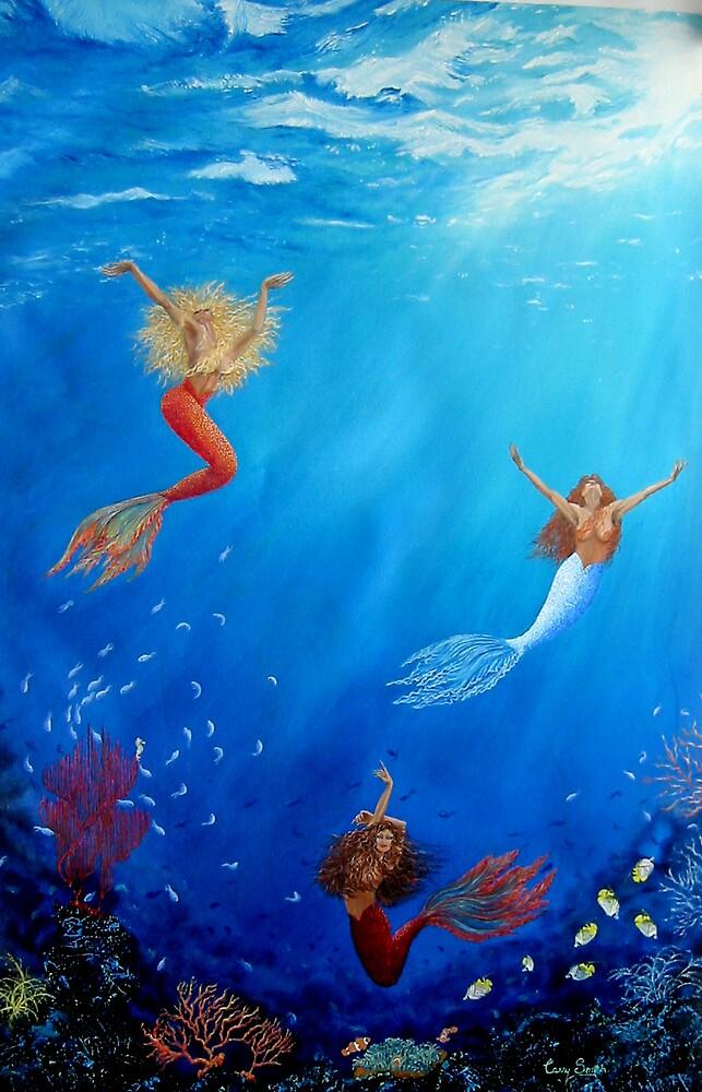 """ Mermaids Dancing 2 "" by carrysmith"