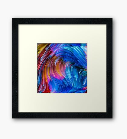 Stream Of Colors IV Framed Print