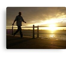 Stride to the Sun Canvas Print