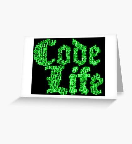 binaryCodeLifev1.0 Greeting Card