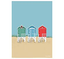 Colourful Beach Huts Photographic Print