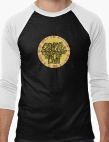 Always look on the bright side of life (circle) Men's Baseball ¾ T-Shirt