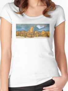 Minecraft Panorama Women's Fitted Scoop T-Shirt