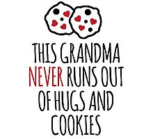Cute 'This Grandma Never Runs Out of Hugs And Cookies' T-Shirt and Accessories Photographic Print