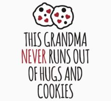 Cute 'This Grandma Never Runs Out of Hugs And Cookies' T-Shirt and Accessories by Albany Retro