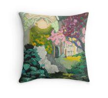 Tea Garden Throw Pillow