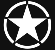 Army Star & Circle, WW11, Jeep, USA, America, American, White on Green Kids Clothes